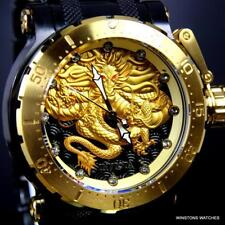 Invicta Coalition Forces Dragon Gold Plated Black Steel 52mm Automatic Watch New