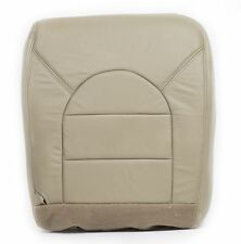 2000 Ford F-250 F-350 Lariat Passenger Bottom Replacement Leather Seat Cover Tan