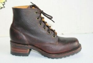 New Vintage FRYE Woman's Ankle Boots, Brown Leather Size 7.5 M USA Made.