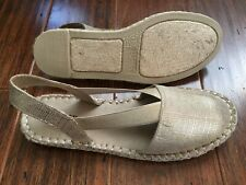 Brand New KENNETH COLE Espadrilles Sandals Color Champagne/Gold Size 7.5