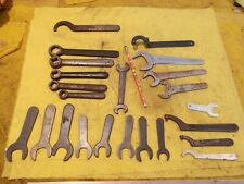BIG LOT of LATHE TOOL POST & TAPPING HEAD WRENCHES machinist VARIOUS SIZES & MFG