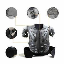 New Black Body Armour Vest Motocross Chest Protector Dirt Bike Youth Child