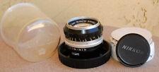 Nikon Nikkor S 50mm F1.4 lens with bubble circa 1966 1967 EXC