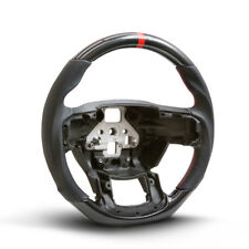 Handkraftd 2015+ Ford F150 Steering Wheel - Hydro Carbon/Leather/Red Stitch