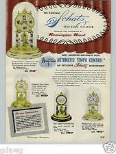 1954 PAPER AD Schatz 400 Day Anniversary Clock 8 Day Cuckoo Hand Carved