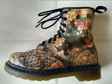 DOC DR. MARTENS TATTOO SLEEVE SOFTY T BOOTS SMOOTH LEATHER UNISEX 4UK US: W6 M5