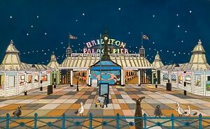 original artwork. the art of G exhibition. brighton Pier nightime