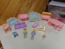 VINTAGE PLAYSKOOL DOLLHOUSE REPLACEMENT MEGA LOT DOLLS & FURNITURE  BABY  RARE