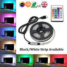 5M SMD 5050 RGB LED Strip Light Waterproof USB IR Remote Controller TV PC Back