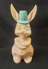 """Vintage Easter Bunny Blow Mold 12"""" Rare Happy Bunny"""