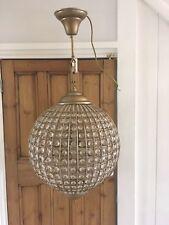 Brushed gold Globe crystal chandelier/ceiling light