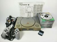 Sony Playstation PS1 Console Bundle 11 Games Original Manual SCPH-9001 Tested