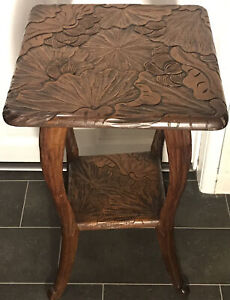 Arts & Crafts Art Nouveau Liberty & Co Engraved Occasional/Hall Table c.1910
