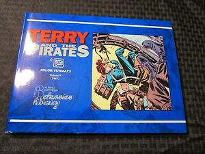 1993 TERRY And The PIRATES Color Sundays v. 9 HC/DJ NM/VF+ Milton Caniff 112pgs