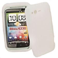 Silikon TPU Cover Handy Case Hülle in Weiß + Displayschutzfolie für HTC Rhyme