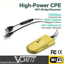 VONETS vap11g-500 300 Mbps Wifi Ripetitore Wireless Bridger PER PC TV FOTOCAMERA