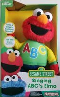 "☆☆ Playskool Sesame Street Singing ABC's ELMO Plush 12""H ~ NIB/Box Has Damage ☆☆"