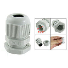 10 Pcs White Plastic PG11 Waterproof Cable Glands Connectors LW