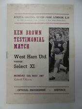 More details for west ham united v select xi   1966/1967   ken brown testimonial   15 may 1967