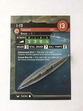 Axis & Allies était at Sea: i-19 (#54)
