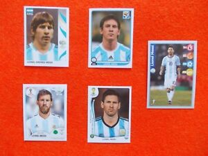 football stickers  LIONEL MESSI PANINI WORLD CUP 2006 2010 2014 2018