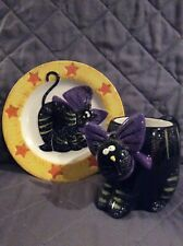 Black Cat Cup and Saucer