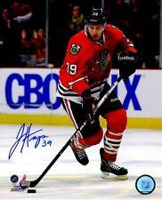 Signed 8x10 Jimmy Hayes Chicago Blackhawks Autographed photo - Coa