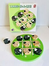 Pintoy Lambs in a Line Three In A Row Tic Tac Toe Game Noughts & Crosses Wooden