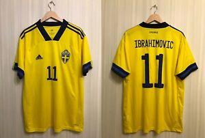 Sweden #11 Ibrahimovic 2020/2021 home Size XL Adidas shirt jersey soccer Sverige