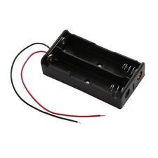 2pcs Plastic Dual Slot 2x18650 Battery Storage Box Case with Wire Lead Pin