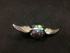 Multi Colored Winged Ball Golden Snitch Chrome Metal Metalic Fidget Spinner NEW