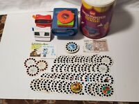 View-Master Lot Viewers Projector 80+ Reels Disney Discovery ABCs 50s and 60s