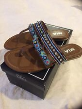 Mia Women's Candance Beaded Sandals Size 7 New