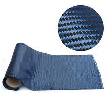 Carbon Fiber & Blue Kevlar Mixed Fabric 200gsm Carbon Aramid Cloth 36x100cm