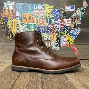Timberland Kendrick SideZip Waterproof Boots Brown Full Grain Leather Men's 12