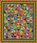 "NUSA DUA - 82"" x 70"" - Pre-cut Quilt Kit by Quilt-Addicts King Single size"