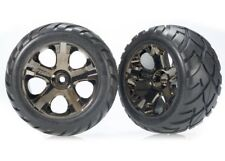 Traxxas Anaconda Tires w/All-Star Front Wheels (Black Chrome) (Standard) (2)