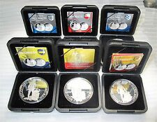 Netherlands silver ducat x 6 proof 2010 2011 2012 Utrecht Friesland Holland