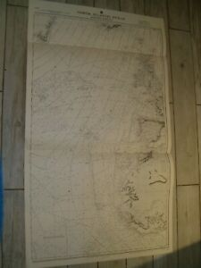 Vintage Admiralty Chart 2060A NORTH ATLANTIC OCEAN - EASTERN PORTION 1923 edn