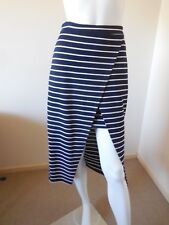GLASSON BLACK AND WHITE STRIPED SKIRT SIZE 10  RAYON AND POLYES LOOK AT  PRICE