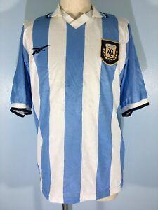 ARGENTINA COPA AMERICA REEBOK VINTAGE HOME SOCCER SHIRT FOOTBALL JERSEY M