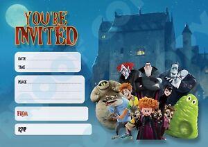 #94 HOTEL TRANSYLVANIA Pack of 10 children birthday party/halloween INVITATIONS