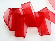 "Jasdee Double Face Organza Ribbon By Yard Width 1/2"", 3/4"", 1"", 1-1/2"", 2"" Inch"