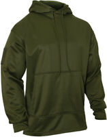 Mens Olive Drab Solid Tactical Concealed Carry Hoodie Sweatshirt