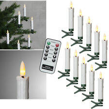 """LED Christbaum-Kerzen 3D Flame """" With Remote Wireless Timer Dimmable Candle"""
