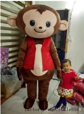 Halloween Monkey Mascot Costume Clothing Birthday Party game Fancy Dress Adults
