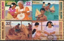 Marshall-islas 826A-829A bloque de cuatro nuevo con goma original 1997 Tradicion