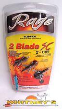"Rage Slip Cam 2 Blade SC 2"" Cut - 100 Grain 2 Blade Broadheads - #61000"