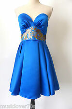 Lashes Edit of London Size 10 US 6 Blue Strapless Fit and Flare Dress