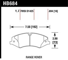 Hawk Performance HB684Y.694 Virtually Noise-Free Disc Brake Pads